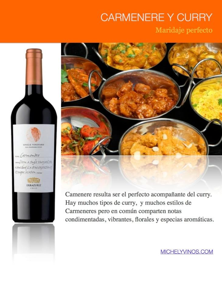 Carmenere y curry